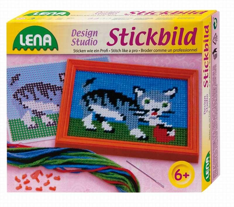 Lena - Vyšívací obrázek kočka