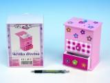 Skříňka růžová 2 zásuvky