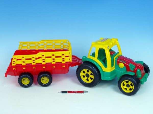 Traktor plast s vlekem 75cm