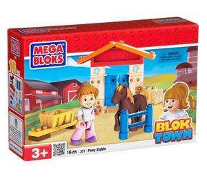 Mini Blok Town set 4 ks  - stavebnice