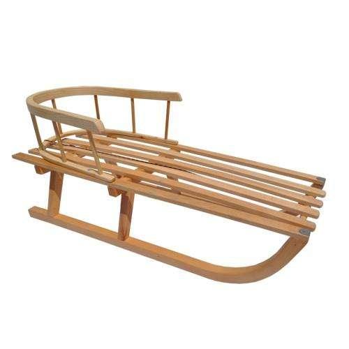 Sáně s dřevěnou dětskou ohrádkou
