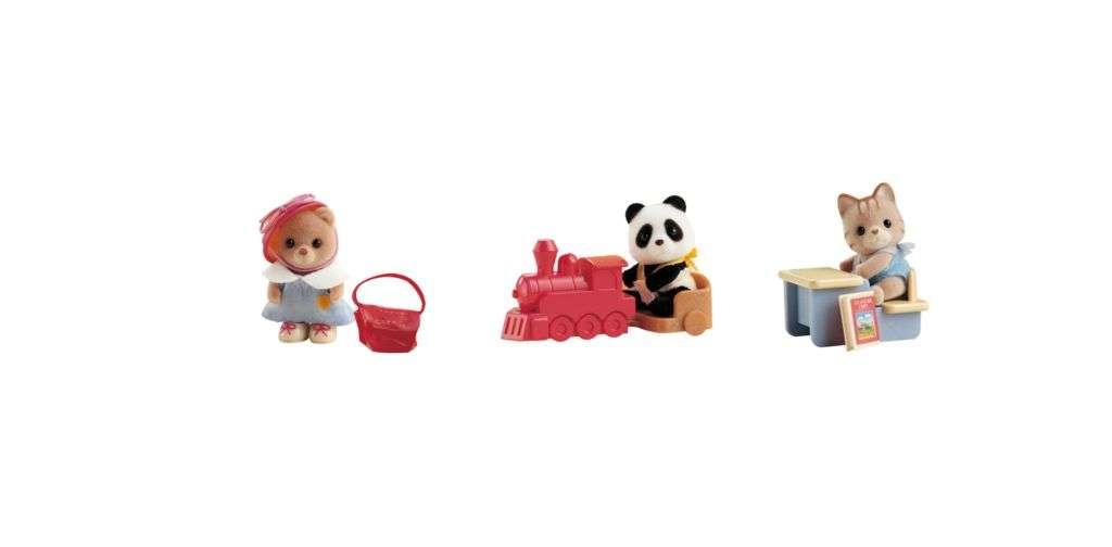 Sylvanian Families - Hrací stoleček,vláček,zvířátka