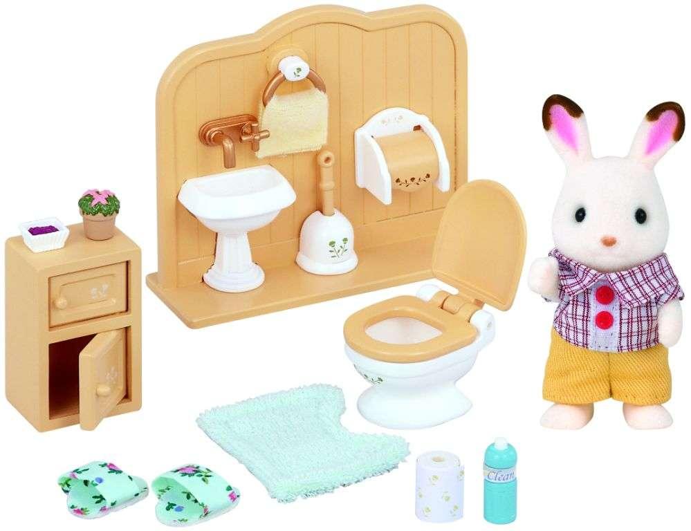 Sylvanian Families - Králičí kluk v koupelně