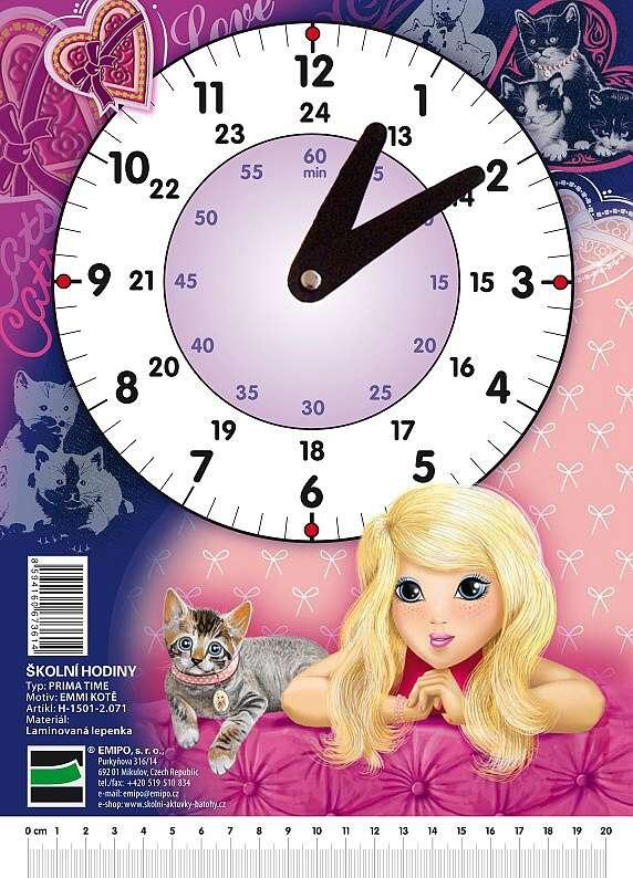 Školní hodiny Emmi kotě H-1501-2.071 EMIPO