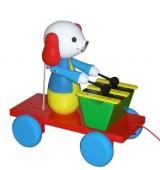 Tahací Pes s xylofonem