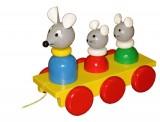 Tahací Tři myšky barevné